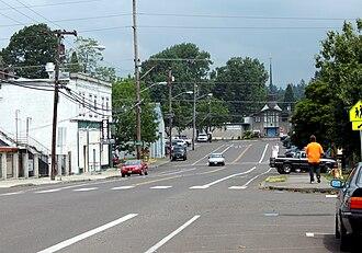 Oak Grove, Oregon - View from main street (Oak Grove Boulevard) in Oak Grove