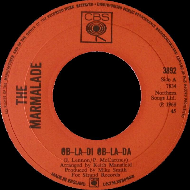 Ob-La-Di, Ob-La-Da by The Marmalades UK vinyl Side-A.png