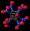 Octanitrocubane molecule ball.png