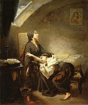 Octave Tassaert - Image: Octave Tassaert An Unfortunate Family aka Suicide 1852