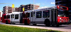 Ottawa Rapid Transit - OC Transpo articulated bus