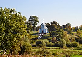 Okhlopiv Horokhivskyi Volynska-Saint Nicholas church-west view-2.jpg