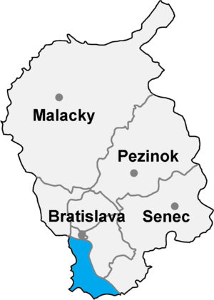 Bratislava 5 - Image: Okres bratislava V