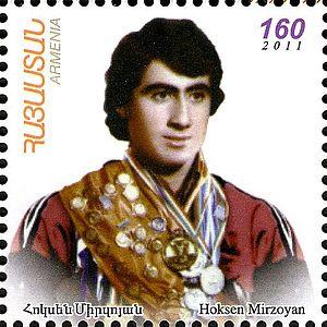 Oksen Mirzoyan - Image: Oksen Mirzoyan 2012 Armenia stamp