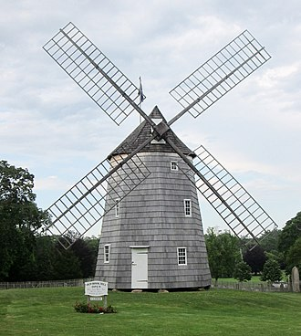 Long Island - The c. 1806 Old Hook Mill in East Hampton is one of eleven extant windmills in Suffolk County.