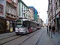 Olomouc, Denisova, od Ztracené, tramvaj.jpg