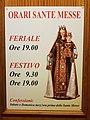 Opening hours of Santissimo Salvatore church in Terracina (LT), Lazio, Italy - 2020-07-23.jpg