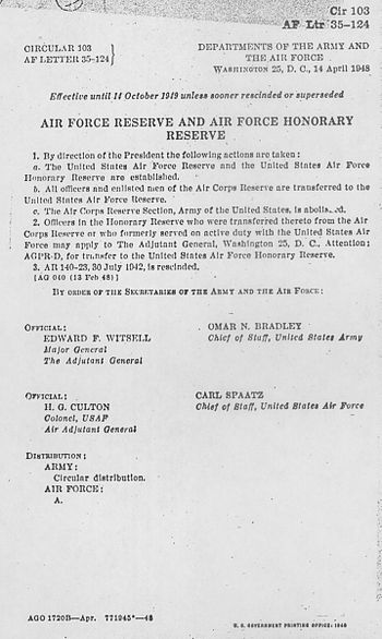 A scan of the document ordering the establishm...