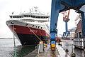 Oresund Dry Docks Landskrona Nordlys Hurtigruten 20140109 0030.jpg