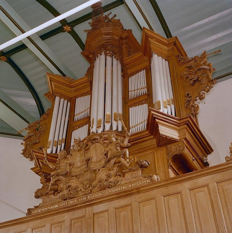 Orgelkas van het vroegere Radeker-orgel