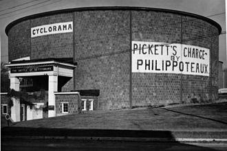 Gettysburg Cyclorama - Original Cyclorama building on Baltimore Street.
