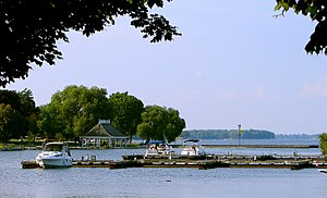 Waterfront of Orillia, Ontario, Canada