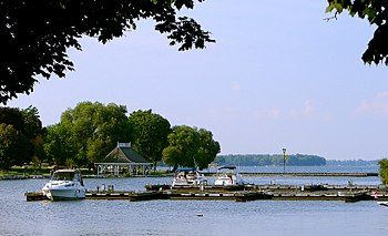 English: Waterfront of Orillia, Ontario, Canada