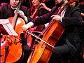 Orquesta Sinfónica de Triana, chelos, Sevilla, España, 2015.JPG