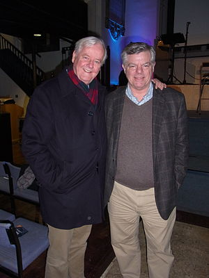 William Edgar (apologist) - Bill Edgar and Os Guinness at the CICCU main event 2013, St Andrew the Great, Cambridge