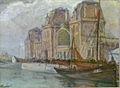 Oscar Cornu - Station van Oostende en vissersboot.JPG