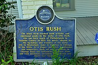 Otis Rush marker in Philadelphia, Mississippi.jpg