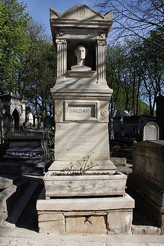 Charles Nodier - Nodeier's grave at Père Lachaise cemetery, (49th division)