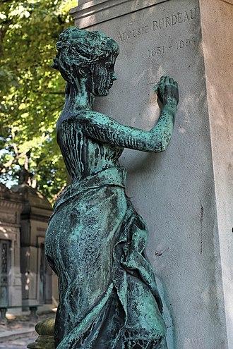 Alfred Boucher - Image: Père Lachaise Division 65 Auguste Burdeau 03