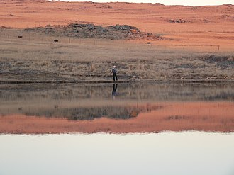 Dullstroom - Fly-fishing at the Dullstroom dam and nature reserve