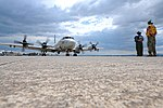 P-3 Orion maritime patrol aircraft from Patrol Squadron (VP) 4 taxis at Naval Air Station Sigonella.jpg