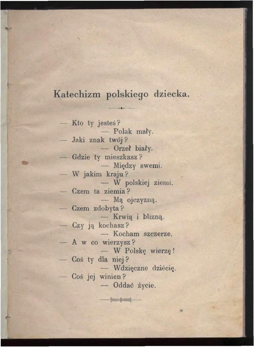 Stronapl Bełza Władysław Katechizm Polskiego Dziecka