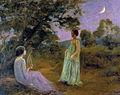 Paisatge nocturn amb dues noies - Joan Brull i Vinyoles (1863-1912).jpg