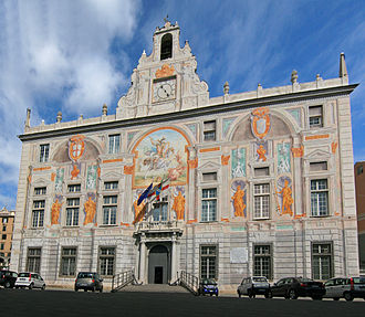 Bank of Saint George - The Palace of Saint George in Genoa.