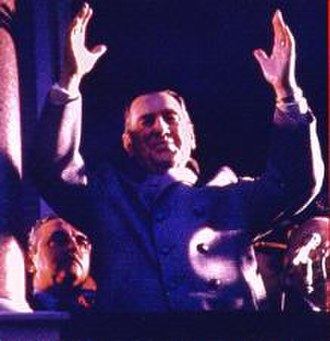1978 FIFA World Cup - Juan Perón saluting the crowd, the inspiration of the Argentina 78 logo