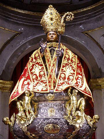 Relicario en la Iglesia de San Lorenzo de Pamplona