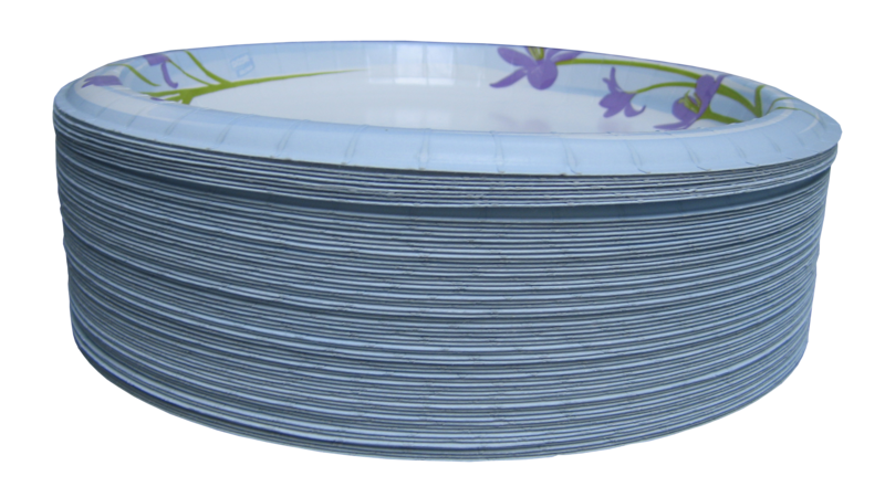File:Paper plates - isolated.png