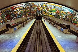 Papineau station - Image: Papineau station Montreal