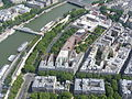 Paris View from the Eiffel Tower third floor Seine upstream Musée du Quai Branly.jpg