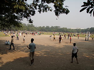 Park Circus - Image: Park Circus Ground Kolkata 2011 10 16 160438
