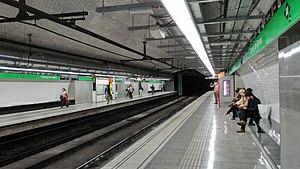 Passeig de Gràcia station - Barcelona Metro line 3 station after the 2017 renovation works
