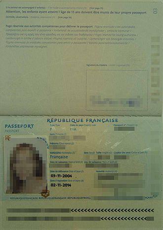 French passport - Image: Passid