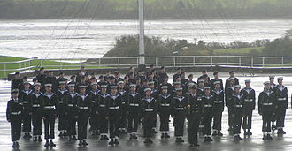 HMS Raleigh (shore establishment) - Passing out parade on HMS Raleigh
