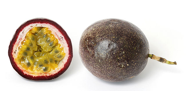 Passion Fruit via Wikipedia ( https://en.wikipedia.org/wiki/Passiflora_edulis )