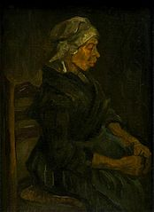 Peasant Woman, Seated with White Cap