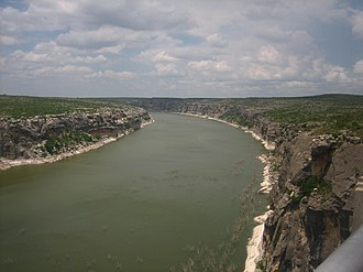 Langtry, Texas - Image: Pecos River east of Langtry IMG 0298