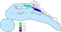 Pelješac-podjela po općinama.PNG