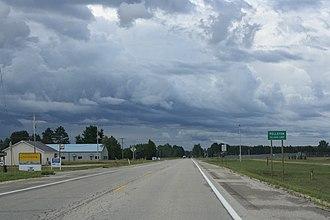 Pellston, Michigan - Image: Pellston Michigan Sign US31