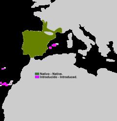 Distribución de Pelophylax perezi.