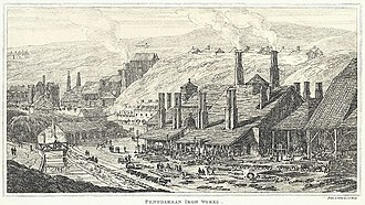 Penydarren Ironworks - Penydarren iron works, 1811