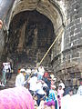 People alighting near main entrance, Murud-Janjira.JPG