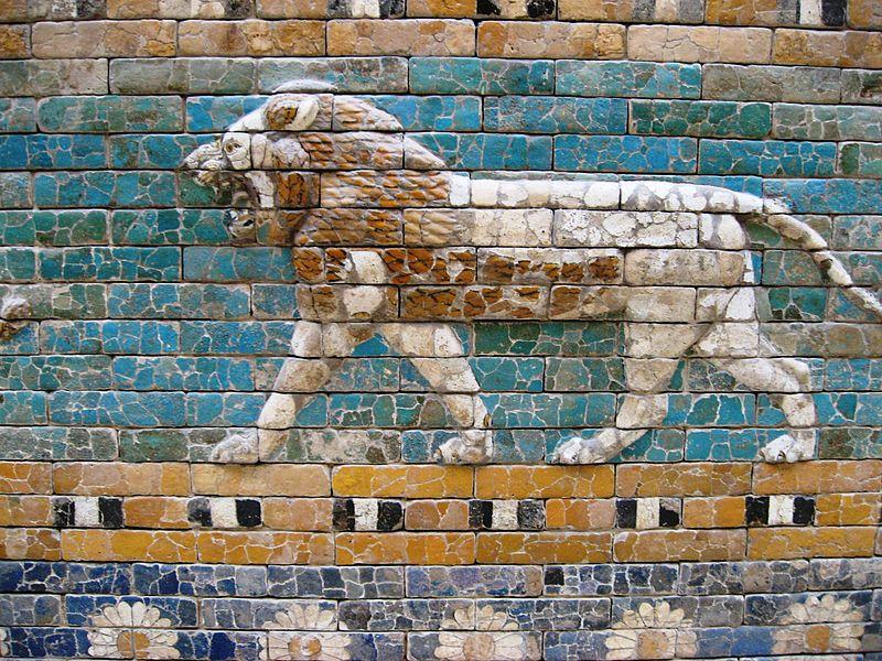 León en la Puerta de Ishtar, Babilonia.