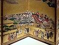 Periodo edo, paravento con scena di festival, 1615-1699, 04.jpg
