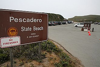 Pescadero, California - Pescadero State Beach is located on Highway 1, roughly two miles west of town