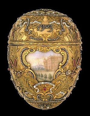 Virginia Museum of Fine Arts -  The Peter the Great Egg by the firm of Fabergé, donated to the museum in 1947.