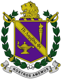 The official coat of arms of Pi Lambda Phi